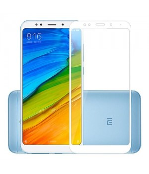 Защитное 3D стекло Xiaomi Redmi 5 Plus белое
