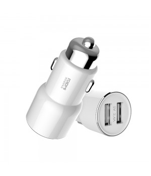 Автомобильной ЗУ с FM-трансмиттером Roidmi 3S Car Charger White (BFQ04RM)